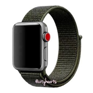 NEW Olive Army Green Apple Watch Sport Loop Band